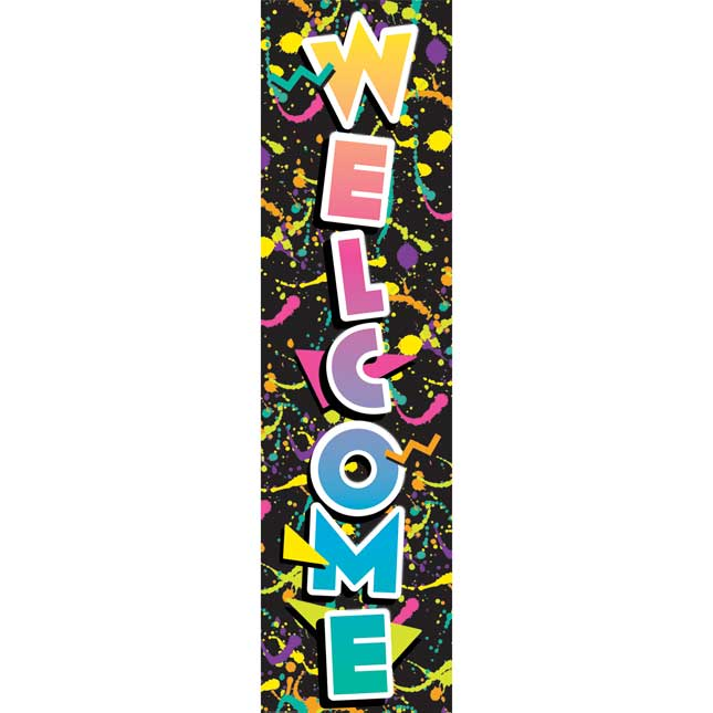 Rock The Classroom Welcome Vertical Banner