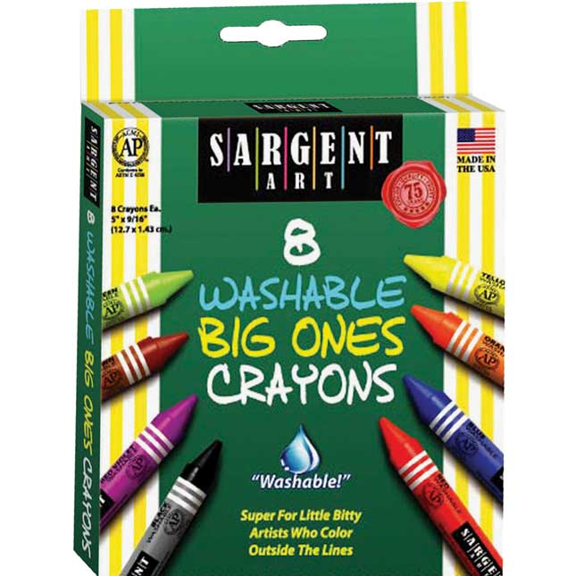 Sargent Art 8-ct. Washable Big Ones Crayons - 6 Boxes