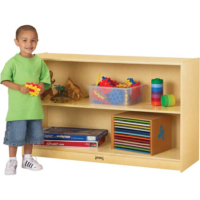 Jonti-Craft® Low Straight-Shelf Mobile Unit