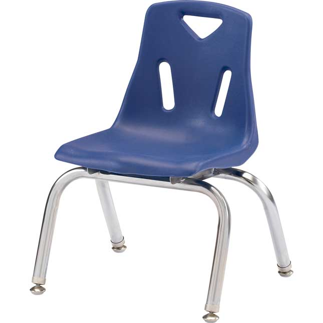 """Jonti-Craft® Berries® Stacking Chairs - Chrome-Plated Legs - 10"""" Seat Height Single Chair"""