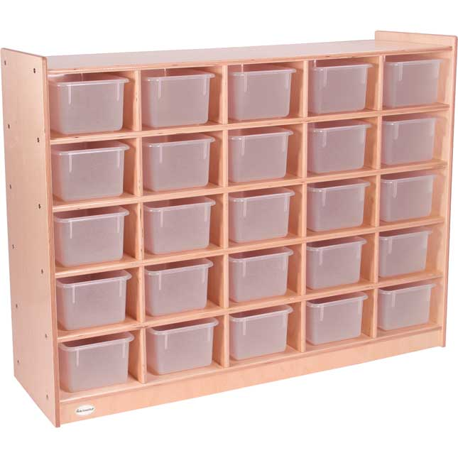 Value Line 25-Tray Mobile Cubicle With Opaque Trays