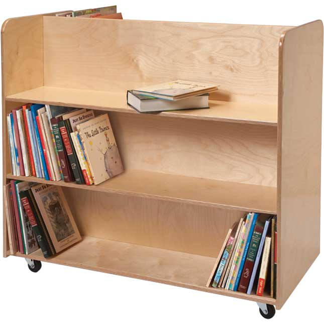 Two-Sided Mobile Library Cart