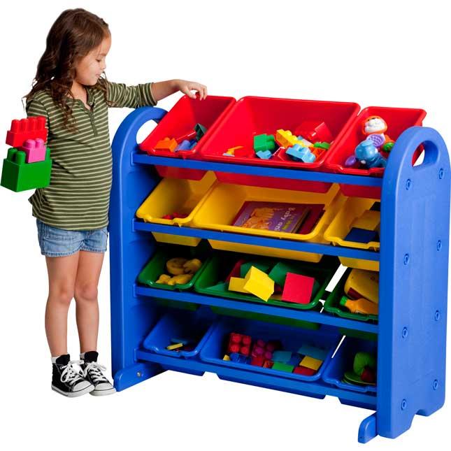 4-Tier Plastic Storage Organizer With Bins