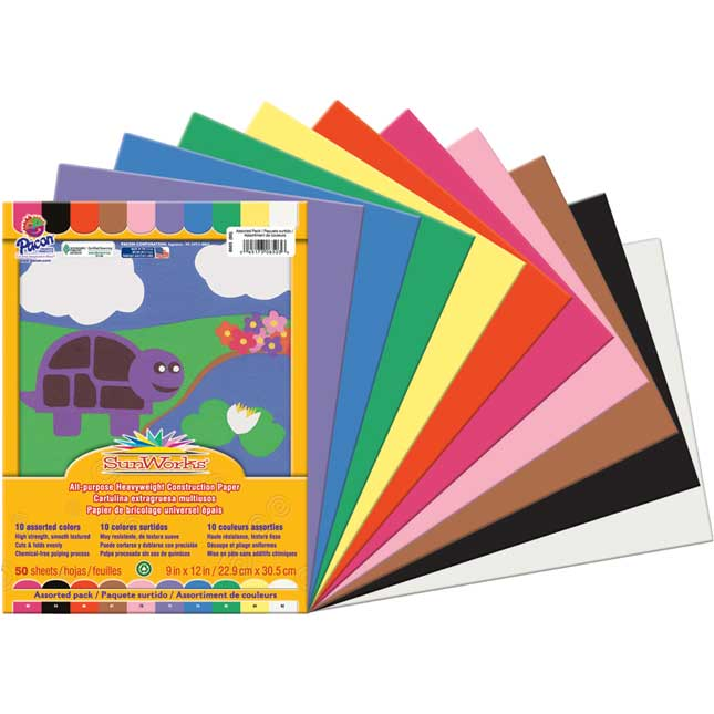 "SunWorks® Groundwood Construction Paper 9"" X 12"" - 500 Sheets"