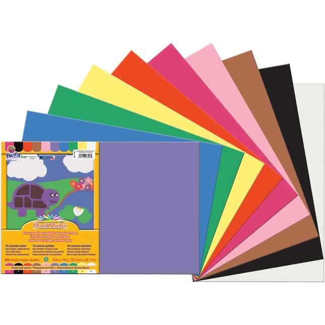 "SunWorks® Groundwood Construction Paper 12"" X 18"" - 500 Sheets"
