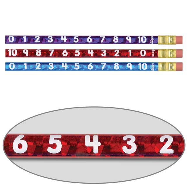 Numbers Through 10 Jumbo Pencils