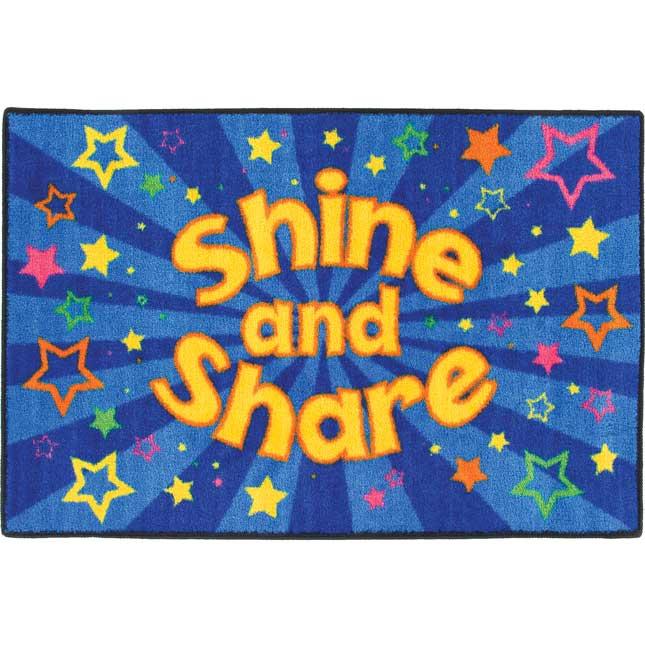 Time To Shine And Share! Rug
