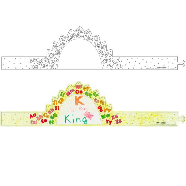 Ready-To-Decorate® Letter Crowns
