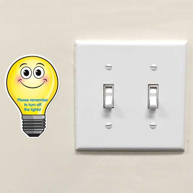 EZ Stick™ Turn Off The Lights Decals - English/Spanish