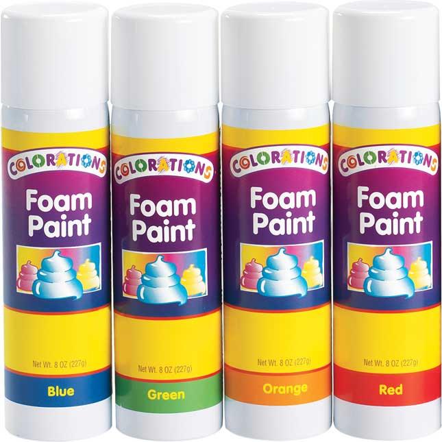 Colorations® No-Drip Foam Paint, 8oz. - Set Of 7
